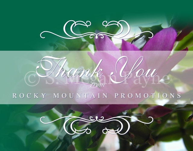 Customized Card_Floral Expressions_Rocky Mountain Promotions Thank You
