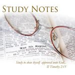 Study Notes: Learning from God's Word